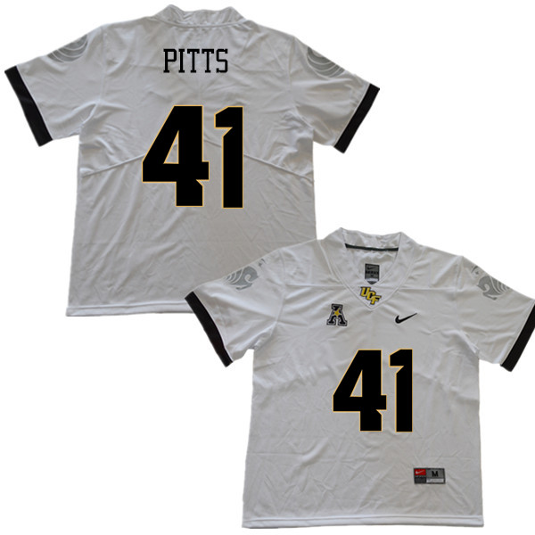Men #41 T.J. Pitts UCF Knights College Football Jerseys Sale-White