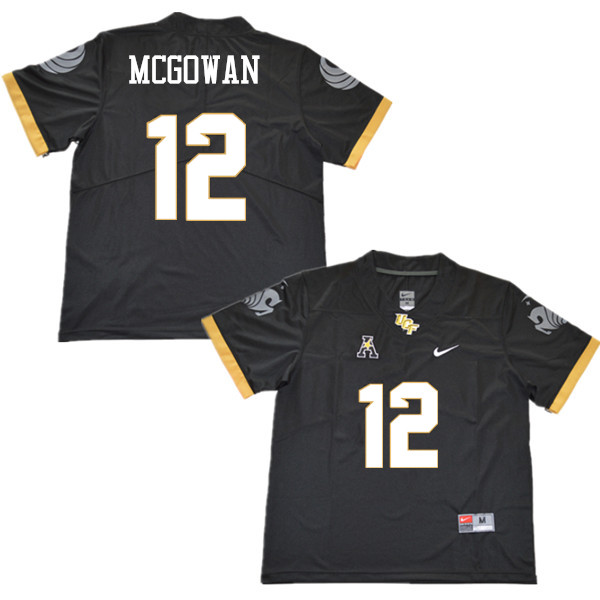 Men #12 Taj McGowan UCF Knights College Football Jerseys Sale-Black