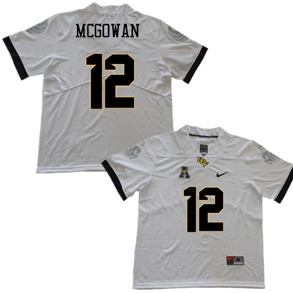Men #12 Taj McGowan UCF Knights College Football Jerseys Sale-White