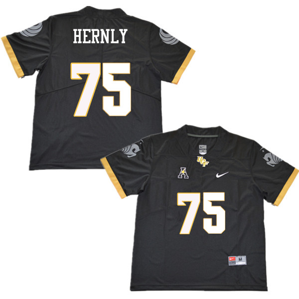 Men #75 Tate Hernly UCF Knights College Football Jerseys Sale-Black