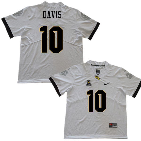 Men #10 Titus Davis UCF Knights College Football Jerseys Sale-White