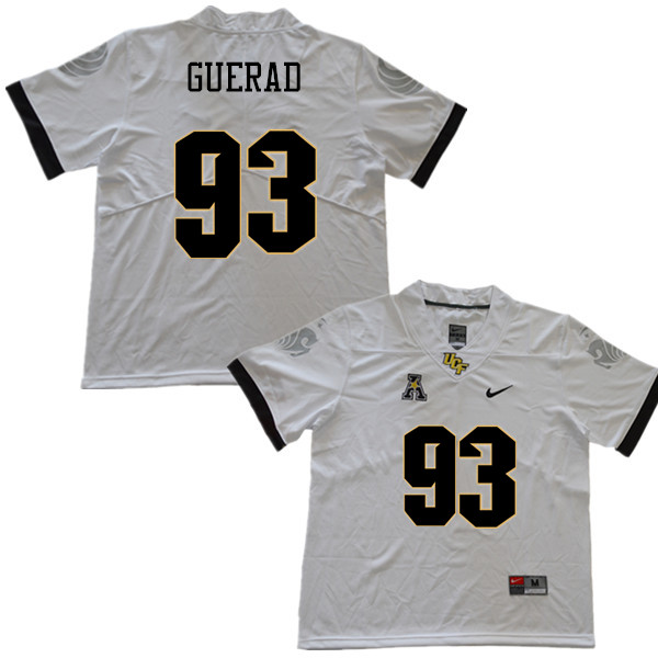 Men #93 Tony Guerad UCF Knights College Football Jerseys Sale-White