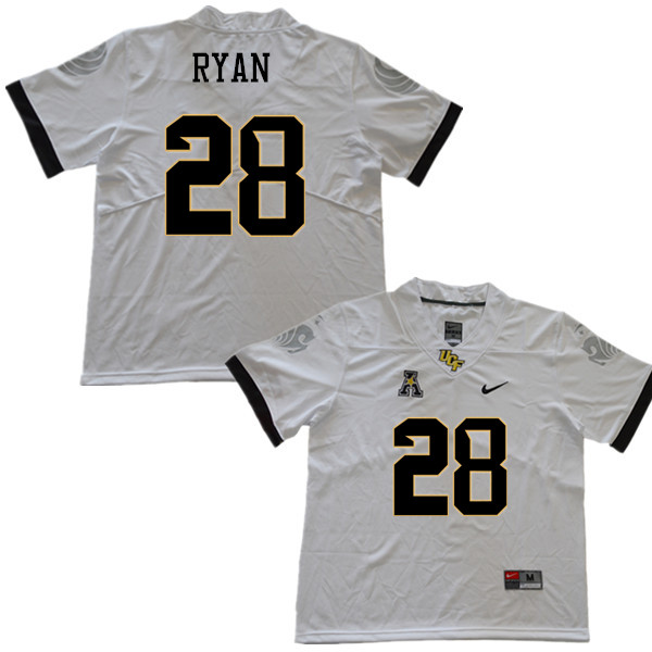 Men #28 Trace Ryan UCF Knights College Football Jerseys Sale-White