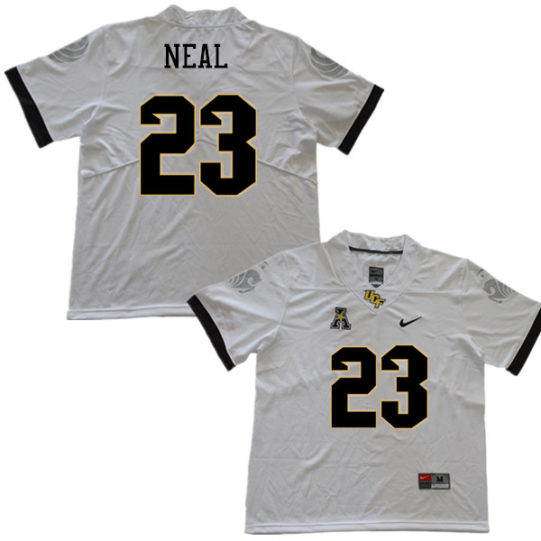 Men #23 Tre Neal UCF Knights College Football Jerseys Sale-White