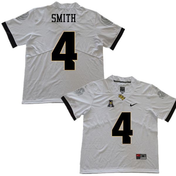 Men #4 Tre'Quan Smith UCF Knights College Football Jerseys Sale-White