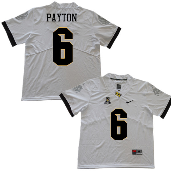 Men #6 Tristan Payton UCF Knights College Football Jerseys Sale-White