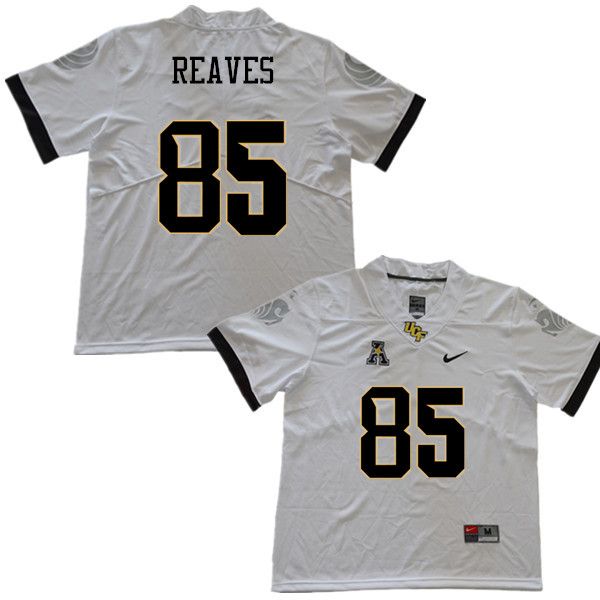 Men #85 Tristan Reaves UCF Knights College Football Jerseys Sale-White