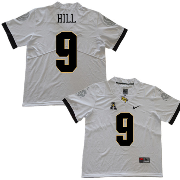 Men #9 Trysten Hill UCF Knights College Football Jerseys Sale-White