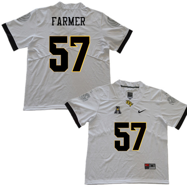 Men #57 Tye Farmer UCF Knights College Football Jerseys Sale-White