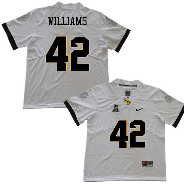 Men #42 Tyler Williams UCF Knights College Football Jerseys Sale-White