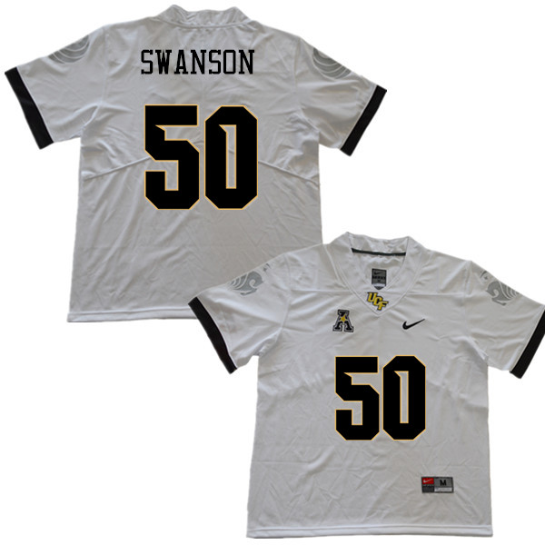 Men #50 Wyatt Swanson UCF Knights College Football Jerseys Sale-White