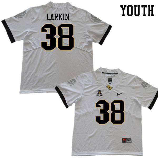 Youth #38 Caden Larkin UCF Knights College Football Jerseys Sale-White