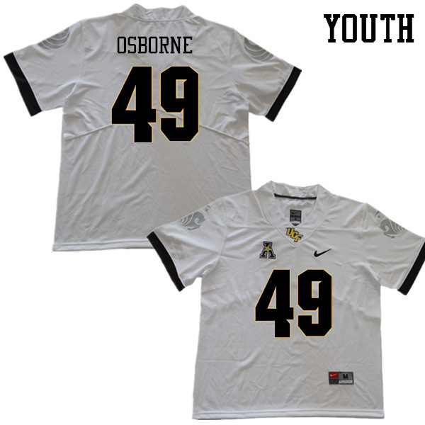 Youth #49 Christian Osborne UCF Knights College Football Jerseys Sale-White