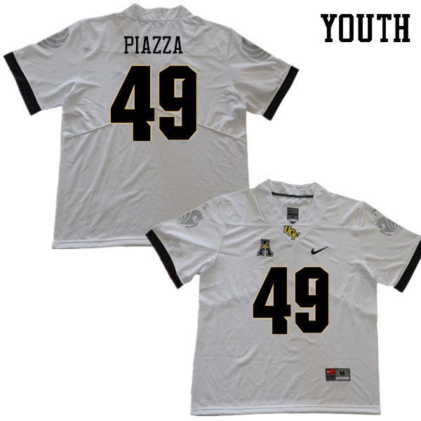 Youth #49 Connor Piazza UCF Knights College Football Jerseys Sale-White