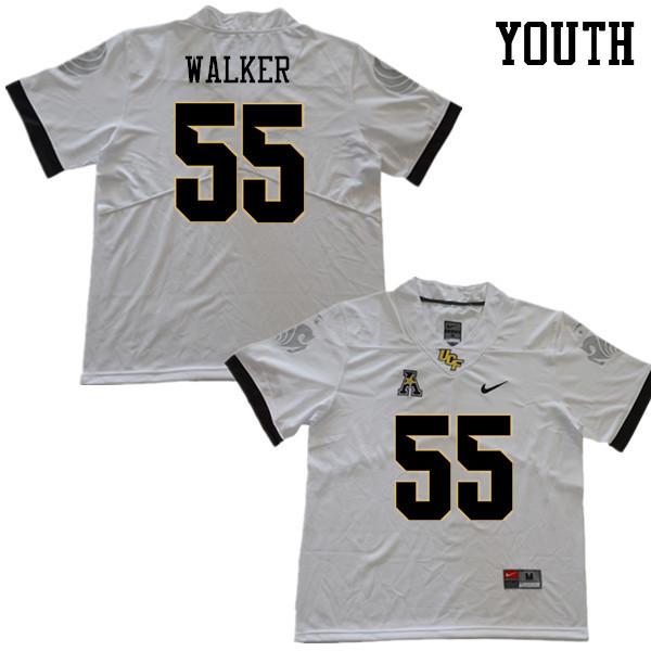 Youth #55 Ike Walker UCF Knights College Football Jerseys Sale-White