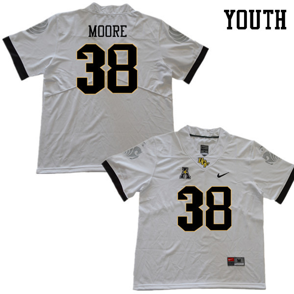 Youth #38 Jonathan Moore UCF Knights College Football Jerseys Sale-White