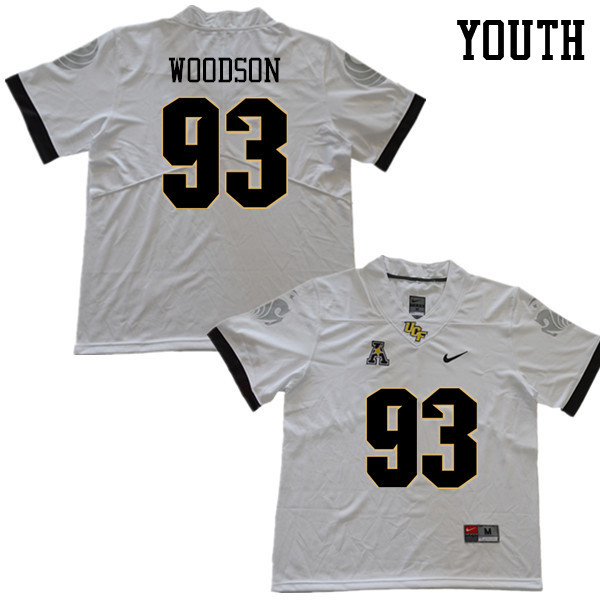 Youth #93 Landon Woodson UCF Knights College Football Jerseys Sale-White