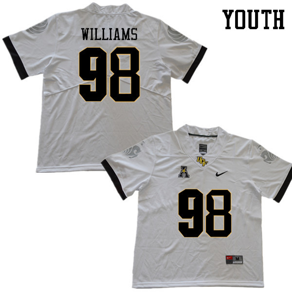 Youth #98 Malcolm Williams UCF Knights College Football Jerseys Sale-White