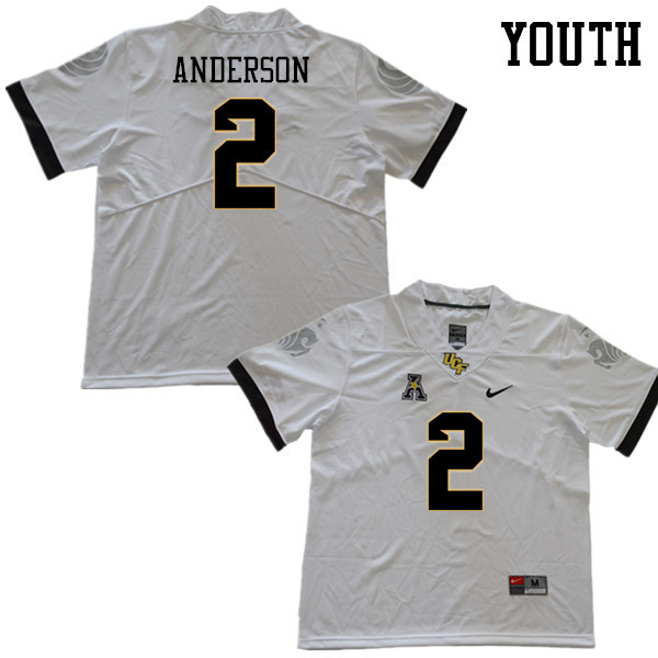 Youth #2 Otis Anderson UCF Knights College Football Jerseys Sale-White