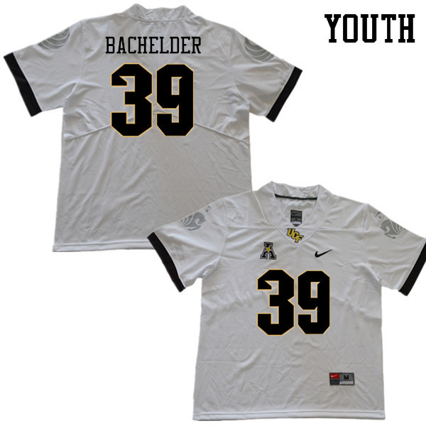 Youth #39 Palmer Bachelder UCF Knights College Football Jerseys Sale-White