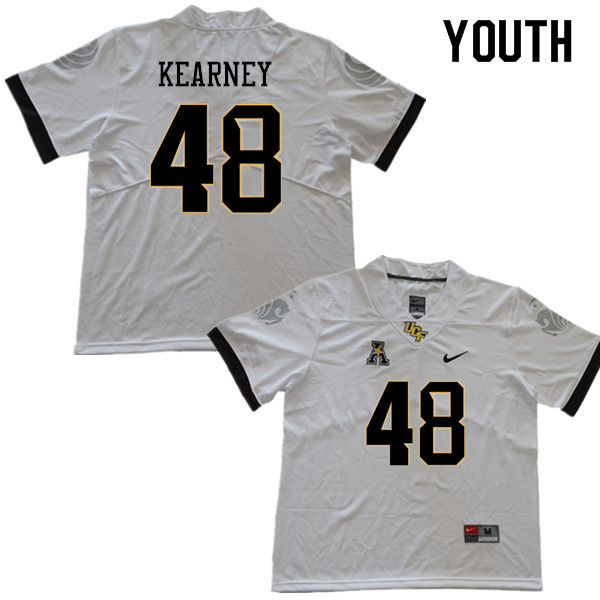 Youth #48 Aundre Kearney UCF Knights College Football Jerseys Sale-White