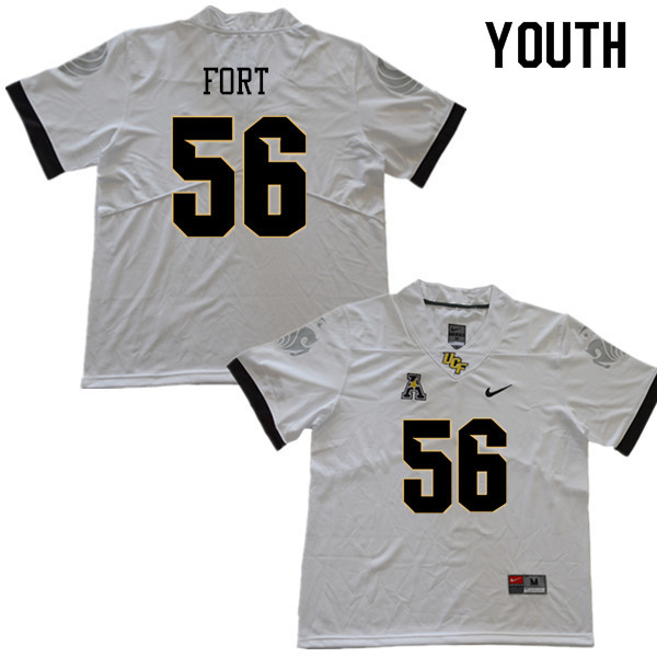 Youth #56 Filippo Fort UCF Knights College Football Jerseys Sale-White