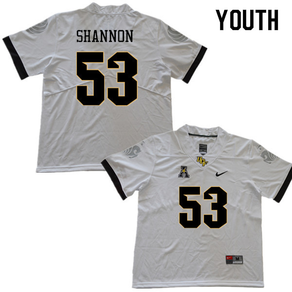 Youth #53 Randy Shannon UCF Knights College Football Jerseys Sale-White