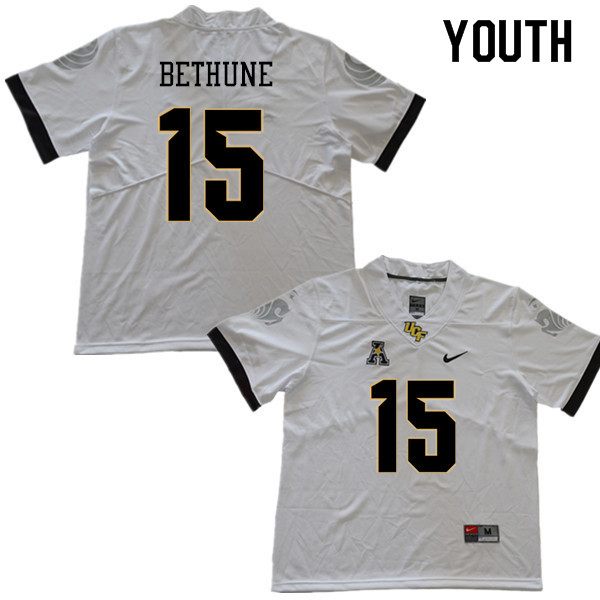 Youth #15 Tatum Bethune UCF Knights College Football Jerseys Sale-White