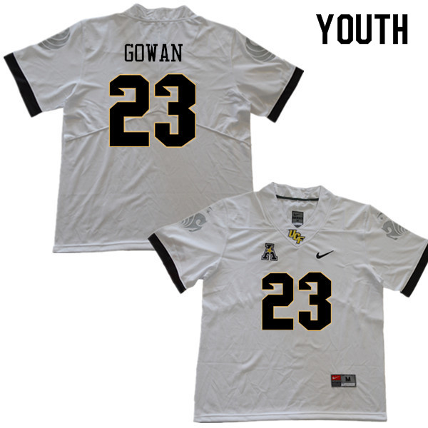 Youth #23 Tay Gowan UCF Knights College Football Jerseys Sale-White