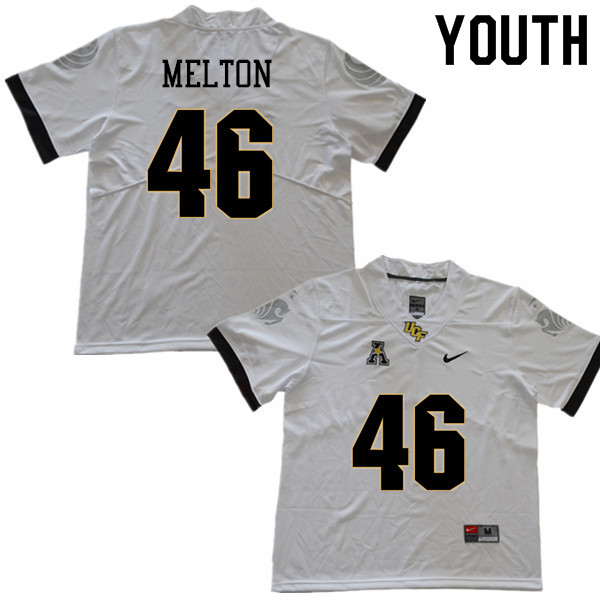 Youth #46 Darius Melton UCF Knights College Football Jerseys Sale-White