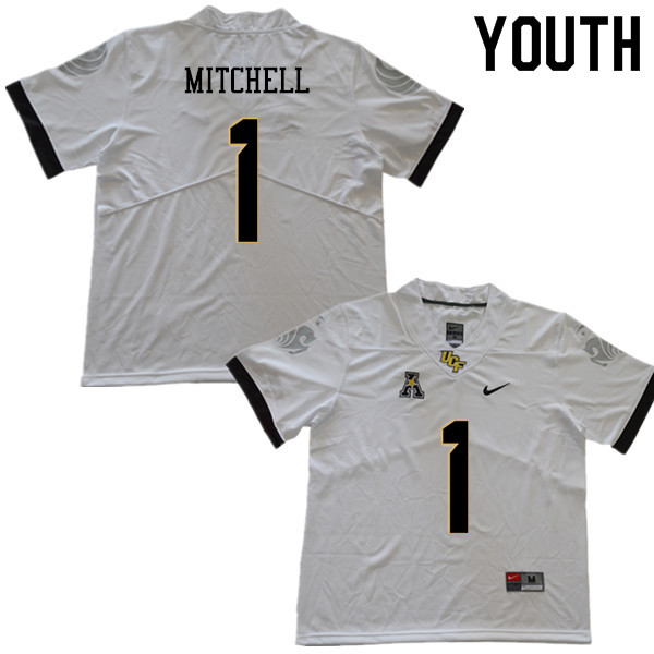 Youth #1 Eric Mitchell UCF Knights College Football Jerseys Sale-White