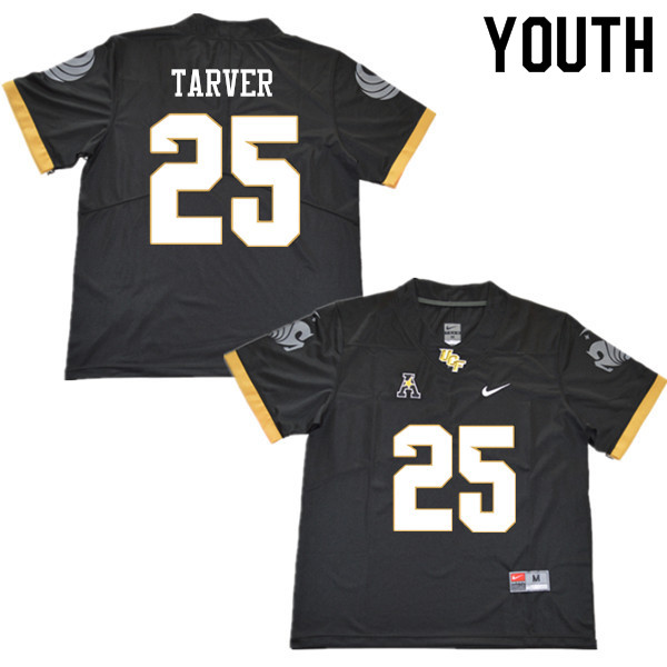 Youth #25 James Tarver UCF Knights College Football Jerseys Sale-Black