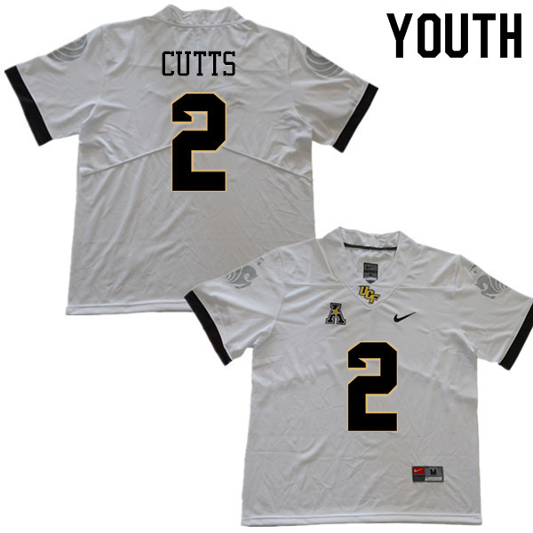 Youth #2 Raymond Cutts UCF Knights College Football Jerseys Sale-White