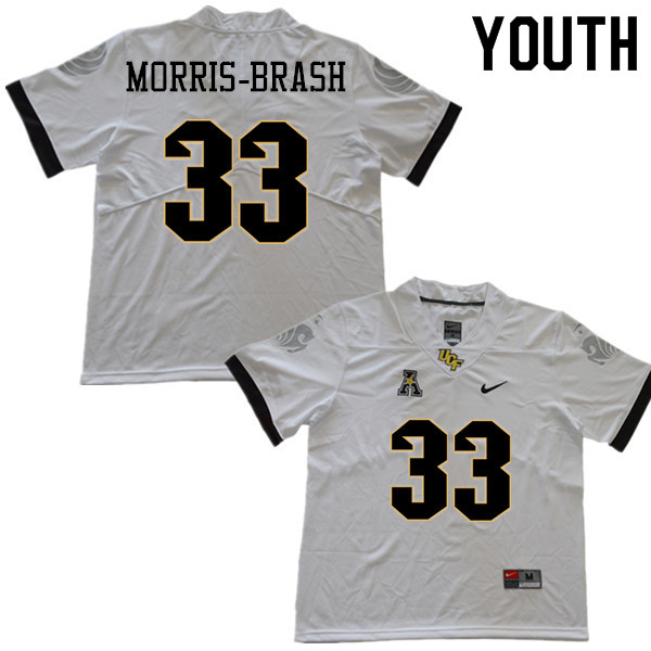 Youth #33 Tre'mon Morris-Brash UCF Knights College Football Jerseys Sale-White