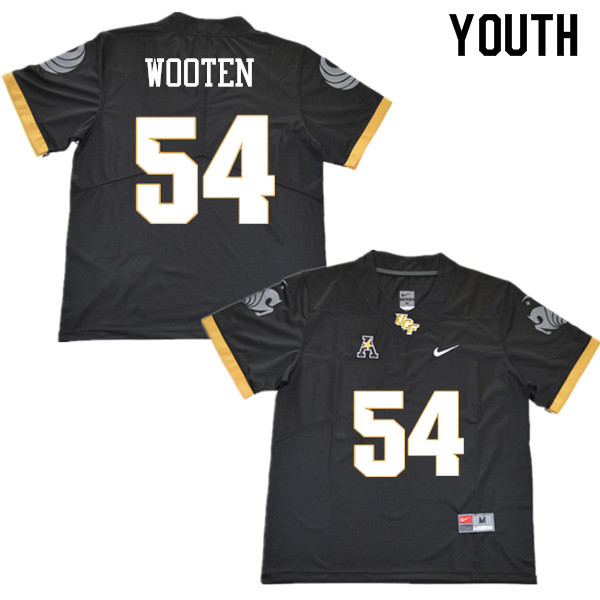 Youth #54 A.J. Wooten UCF Knights College Football Jerseys Sale-Black