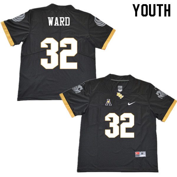 Youth #32 Alex Ward UCF Knights College Football Jerseys Sale-Black