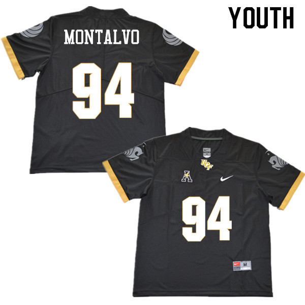 Youth #94 Anthony Montalvo UCF Knights College Football Jerseys Sale-Black