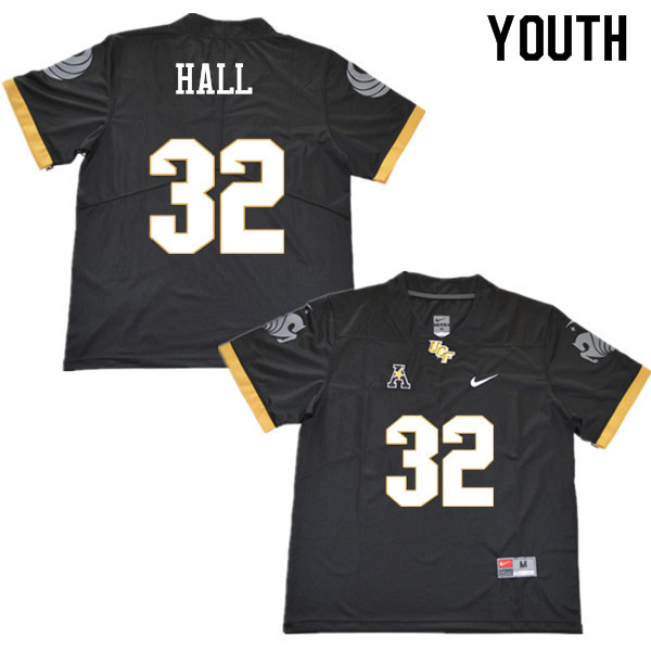 Youth #32 Ashton Hall UCF Knights College Football Jerseys Sale-Black