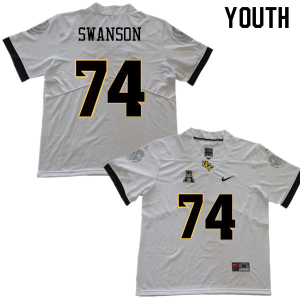 Youth #74 Boman Swanson UCF Knights College Football Jerseys Sale-White