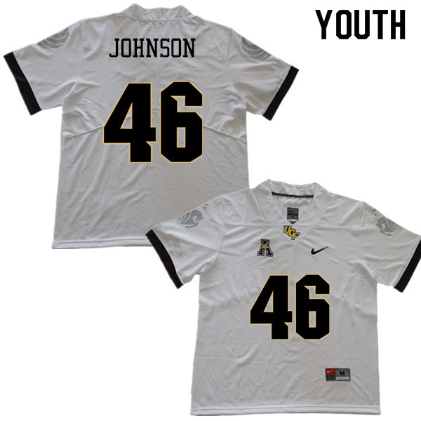 Youth #46 Chris Johnson UCF Knights College Football Jerseys Sale-White