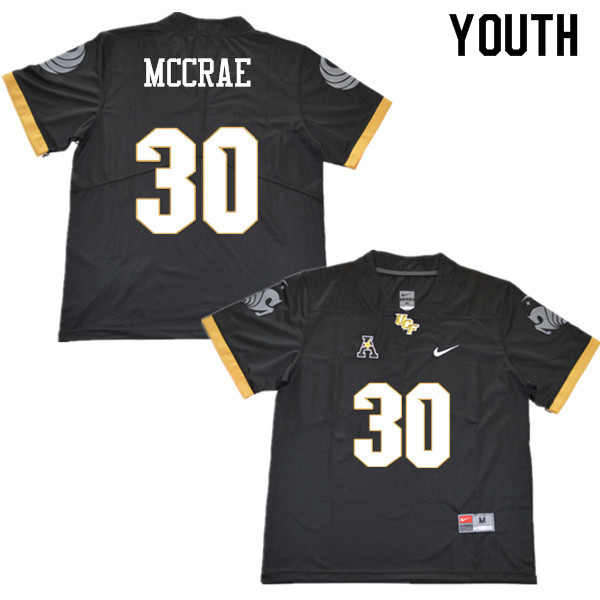 Youth #30 Greg McCrae UCF Knights College Football Jerseys Sale-Black
