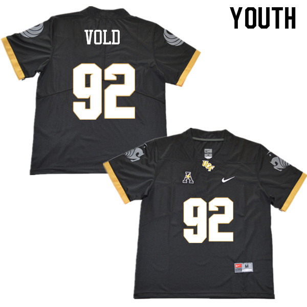 Youth #92 Jack Vold UCF Knights College Football Jerseys Sale-Black