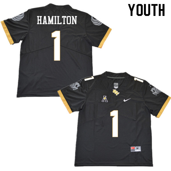 Youth #1 Jawon Hamilton UCF Knights College Football Jerseys Sale-Black