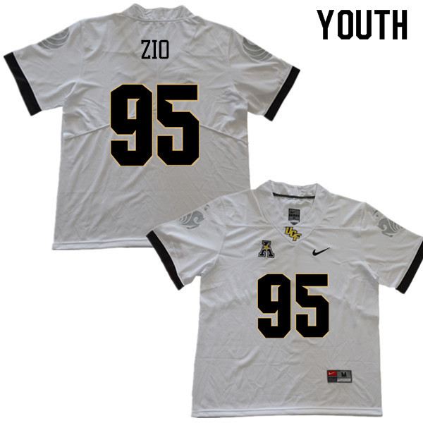 Youth #95 Jeremiah Zio UCF Knights College Football Jerseys Sale-White