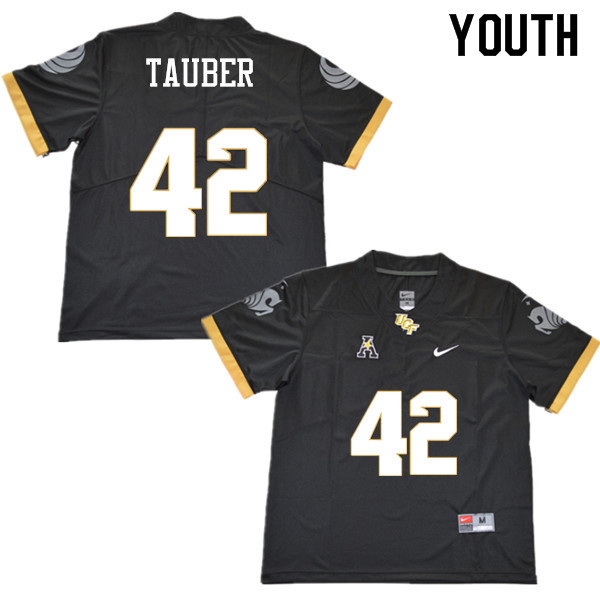 Youth #42 John Tauber UCF Knights College Football Jerseys Sale-Black