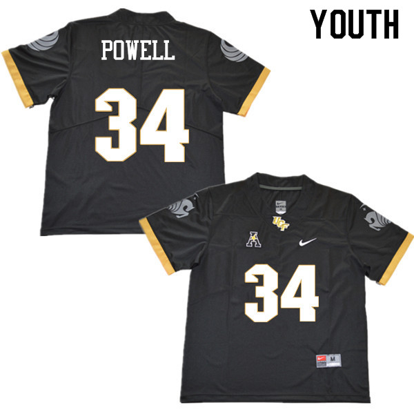 Youth #34 Jon Powell UCF Knights College Football Jerseys Sale-Black