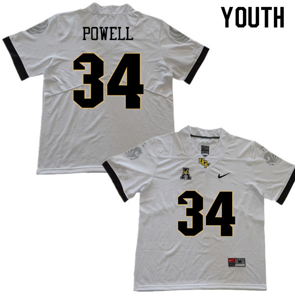 Youth #34 Jon Powell UCF Knights College Football Jerseys Sale-White