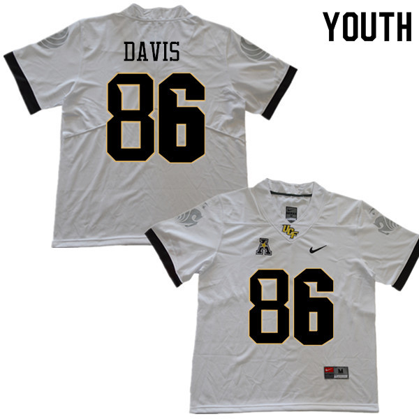 Youth #86 Jordan Davis UCF Knights College Football Jerseys Sale-White