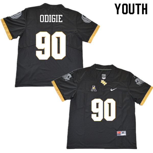 Youth #90 Josh Odigie UCF Knights College Football Jerseys Sale-Black