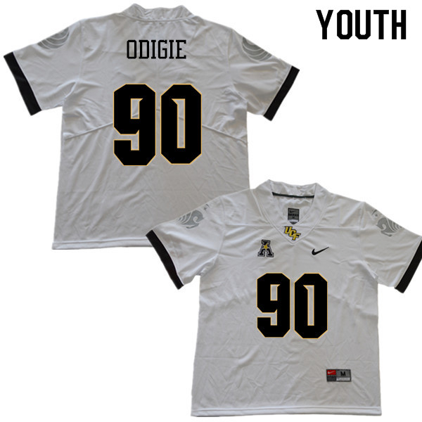 Youth #90 Josh Odigie UCF Knights College Football Jerseys Sale-White